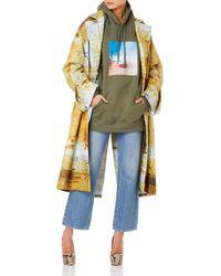 Bevza Rust Printed Women Multicolor Coat