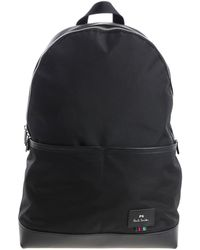 PS by Paul Smith - Black Fabric Backpack With Logo - Lyst