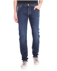 Jacob Cohen - Blue Jeans With Gray Stitching - Lyst