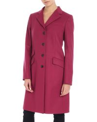 Paul Smith - Cyclamen-colored Wool And Cashmere Coat - Lyst