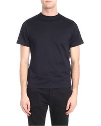 Golden Goose Deluxe Brand - Black T-shirt With Rear White Print - Lyst
