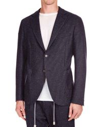 Eleventy - Blue Single-breasted Half-lined Jacket - Lyst