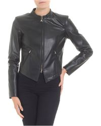 Patrizia Pepe - Black Eco-leather Jacket - Lyst