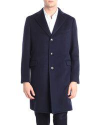 Boglioli - Blue Virgin Wool Semi-lined Coat - Lyst