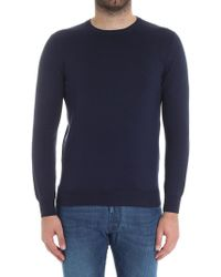 Cruciani - Blue Cotton Sweater - Lyst