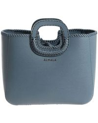 Almala - Blue Hammered Leather Elegance Bag - Lyst