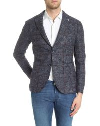 L.B.M. 1911 - Giacca due bottoni in lana in tessuto speckle - Lyst