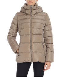 Add - Beige Quilted Down Jacket - Lyst