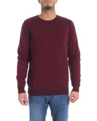 Jurta - Burgundy And Blue Reversible Crew Neck Pullover - Lyst