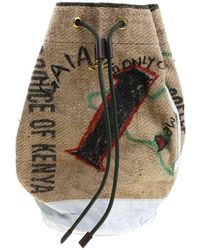 Vivienne Westwood Anglomania - Jute Bag With Prints - Lyst