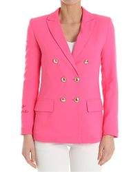 Giada Benincasa - Fuchsia Double-breasted Jacket - Lyst