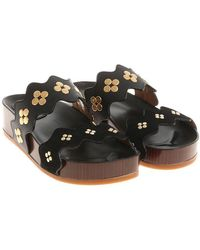 Chloé - Leather And Suede Sandals - Lyst