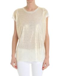 Avant Toi - White Top With Golden Coating - Lyst