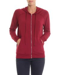 Majestic Filatures - Lila Burgundy Hooded Sweatshirt - Lyst