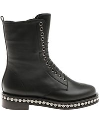 Le Silla - Black Harvey Ankle Boots With Rhinestones - Lyst