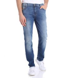 Moschino - Light-blue Embroidered Teddy Bear Jeans - Lyst
