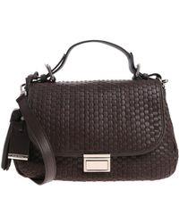 Bruno Parise Italia - Lidia Brown Woven Leather Bag - Lyst