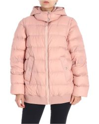 Sportmax - Pink Abelia Down Jacket With Removable Sleeves - Lyst