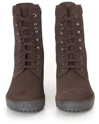 Tod's - Laced Boot - Lyst