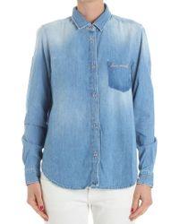 7 For All Mankind - Light-blue Denim Shirt - Lyst