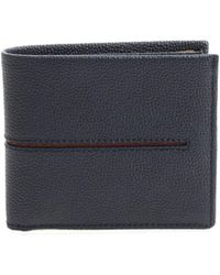 Tod's - Blue Wallet With Burgundy Detail - Lyst