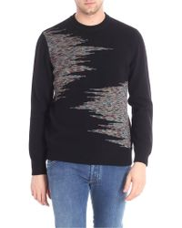 Missoni - Black Pullover With Multicolor Inlay - Lyst
