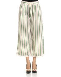Ottod'Ame - Striped Crop Trousers - Lyst