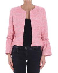 Ottod'Ame - Pink Twill Jacket - Lyst