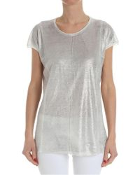 Avant Toi - White Top With Silver Coating - Lyst