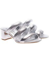 Michael Kors - Silver Paloma Sandals - Lyst