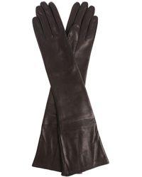 Erika Cavallini Semi Couture - Black Leather Long Gloves - Lyst