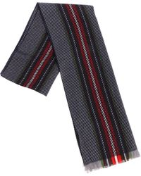 Altea - Wool Scarf With Multicolor Stripes - Lyst