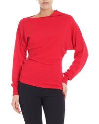 "Pinko - Red ""sunstone"" Sweater - Lyst"