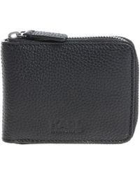 Karl Lagerfeld - Black Wallet With Embossed Logo - Lyst