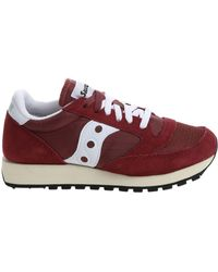 Saucony - Sneaker Jazz In Suede E Mesh Rosso Women's Shoes (trainers) In Red - Lyst