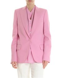 Stella McCartney - Blazer in pura lana rosa - Lyst