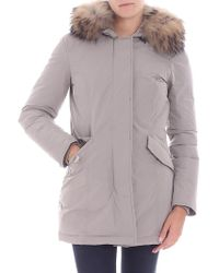 """Woolrich - """"w's Luxury Arctic"""" Taupe Color Down Jacket - Lyst"""