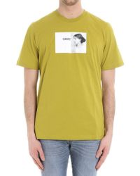 OAMC - Green Portrait Printed T-shirt - Lyst