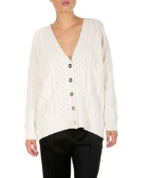 3.1 Phillip Lim - Ivory Color Aran Cable Cardigan - Lyst