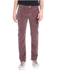 Jacob Cohen - Purple 5 Pockets Corduroy Trousers - Lyst