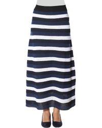 Sonia Rykiel - Long Striped Skirt - Lyst