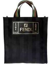 Lyst - Fendi Reversible Burgundy And Black Nylon Forever Tote for Men 188bf350f2d90