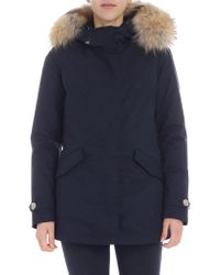Lyst - Footshop The North Face W Arctic Parka Prussian Blue in Blue ec0b06789