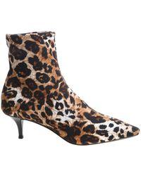 cb83971babdf2 Giuseppe Zanotti Cindy Koka Animal Print Patent Leather Ankle Boots ...