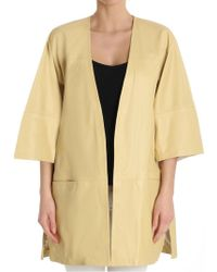 Ottod'Ame - Yellow Leather Jacket - Lyst