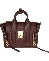 3.1 Phillip Lim - Pashli Mini Burgundy Bag - Lyst