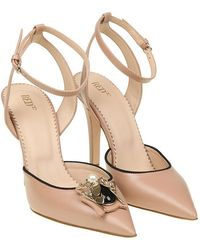 RED Valentino - Pink Leather Pumps - Lyst