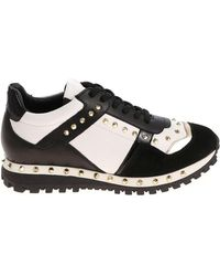 Twin Set - Black And White Sneakers With Golden Studs - Lyst
