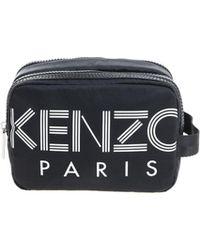 KENZO - Black Beautycase With White Logo - Lyst