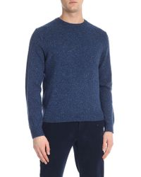 Brooks Brothers - Speckle Blue Denim Crew-neck Jumper - Lyst
